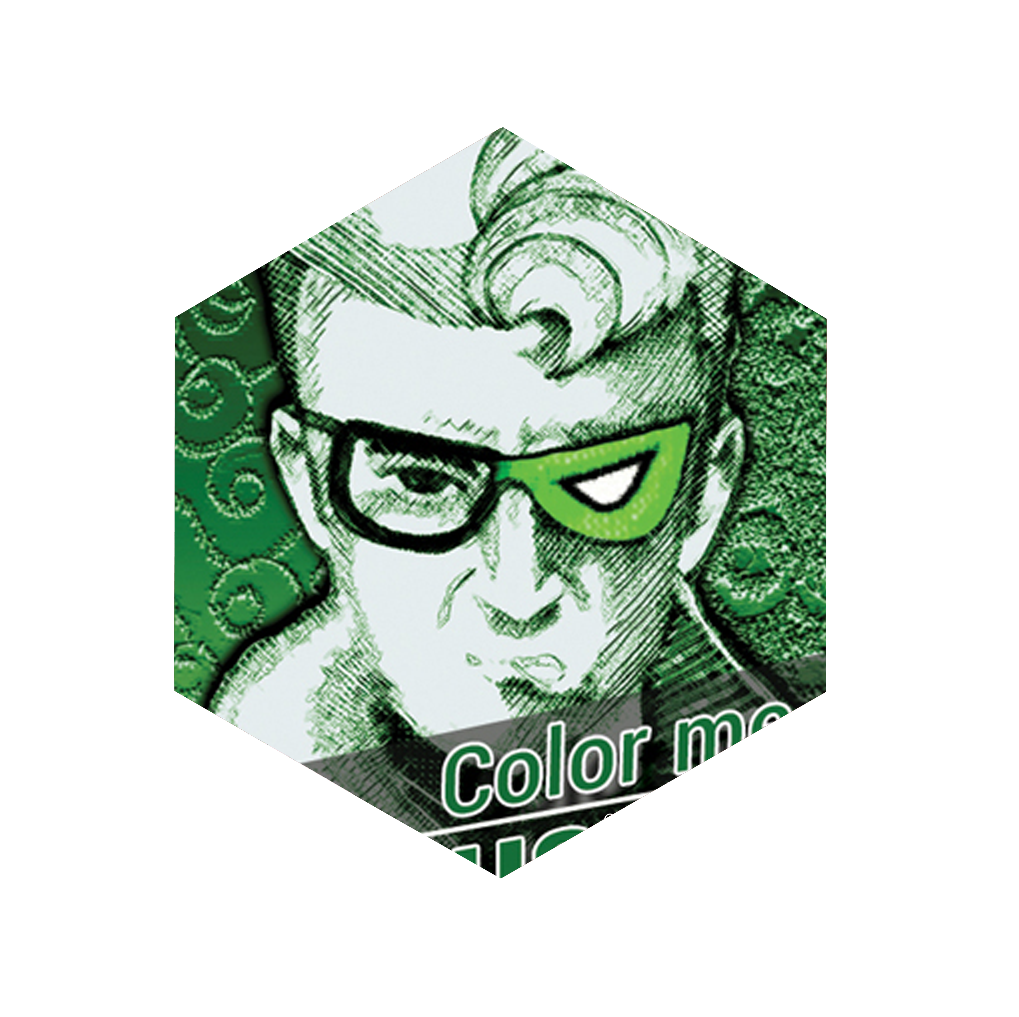 Riddler drawing comic book. Therightbraintheory cover it is