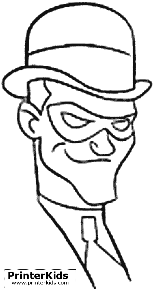 Riddler drawing face. Batman coloring pages