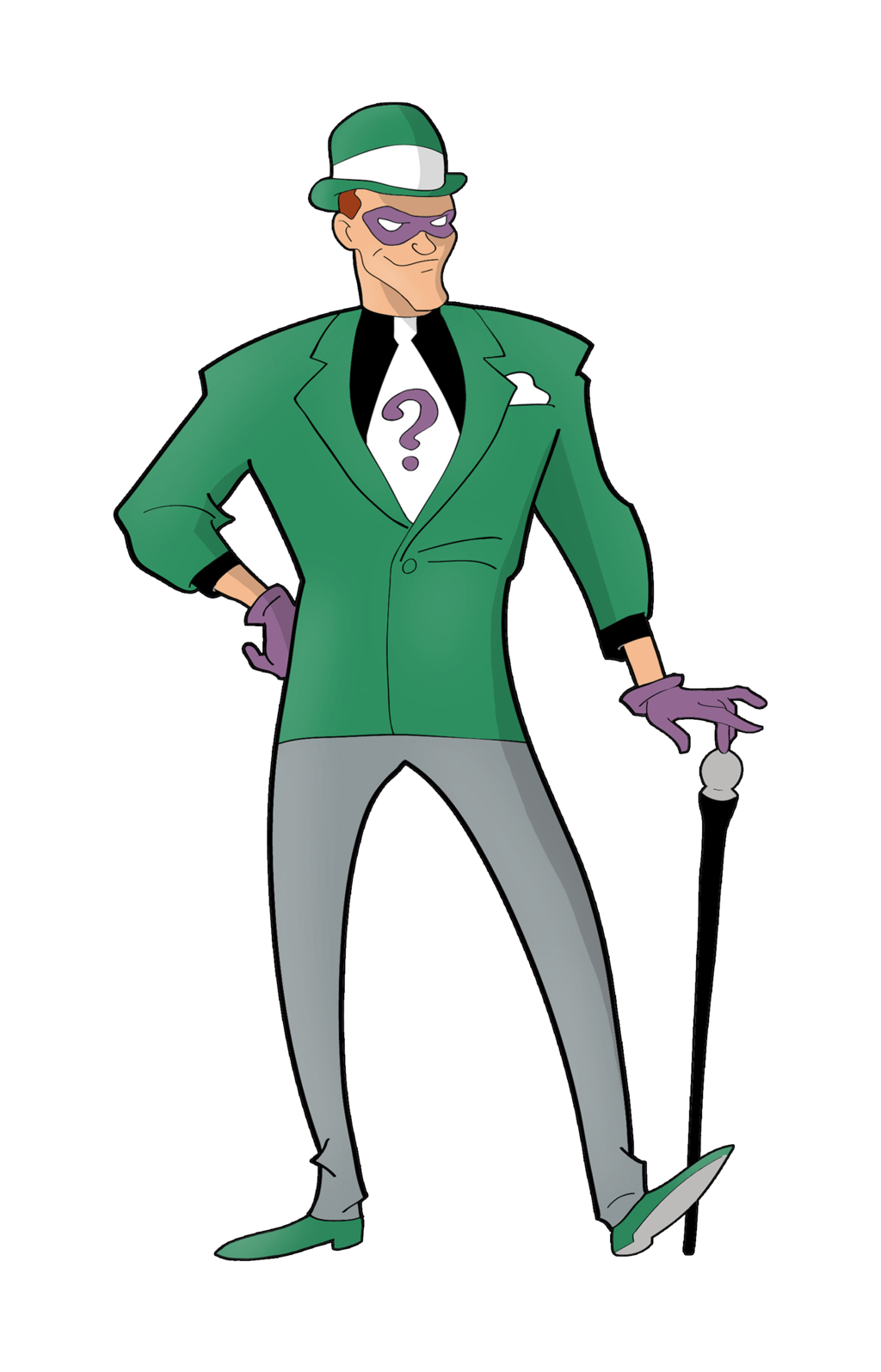Riddler drawing two face. The by dawidarte on