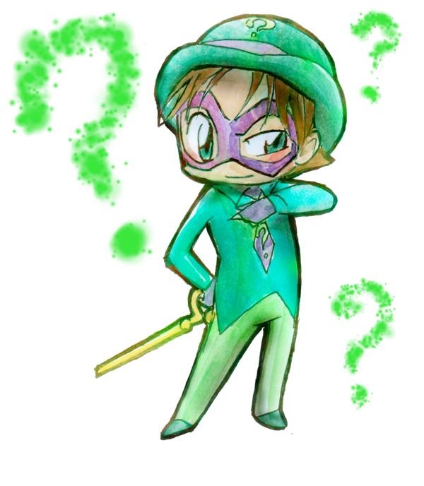 riddler drawing adorable