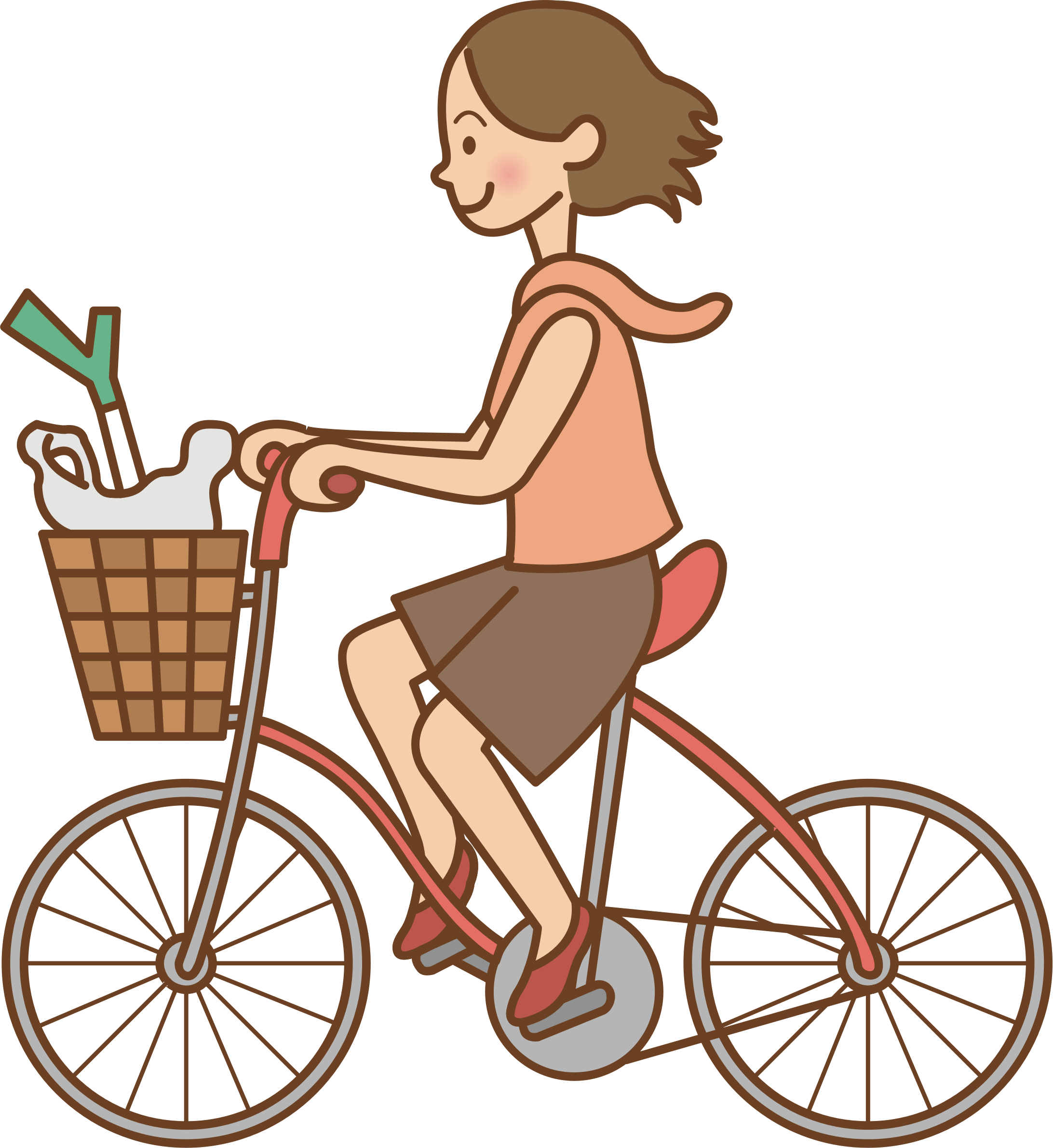 Woman riding a bicycle. Cycling clipart girl paris banner library library