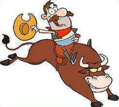 Free bull. Riding clipart svg stock