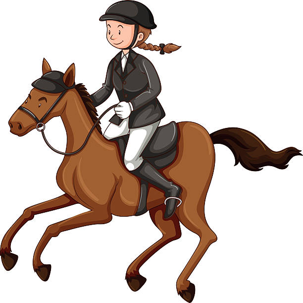 riding clipart horse rider