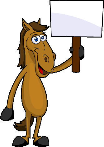 Trail clipart forest trail. Free cartoon horses images