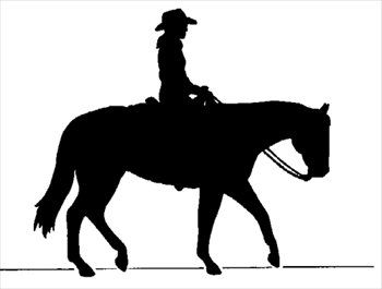 Riding clipart silhouette. Cowboy on horse free