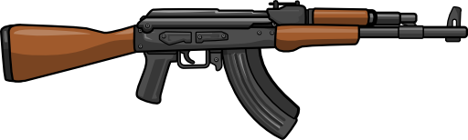 Rifle cartoon png. Guns group with items