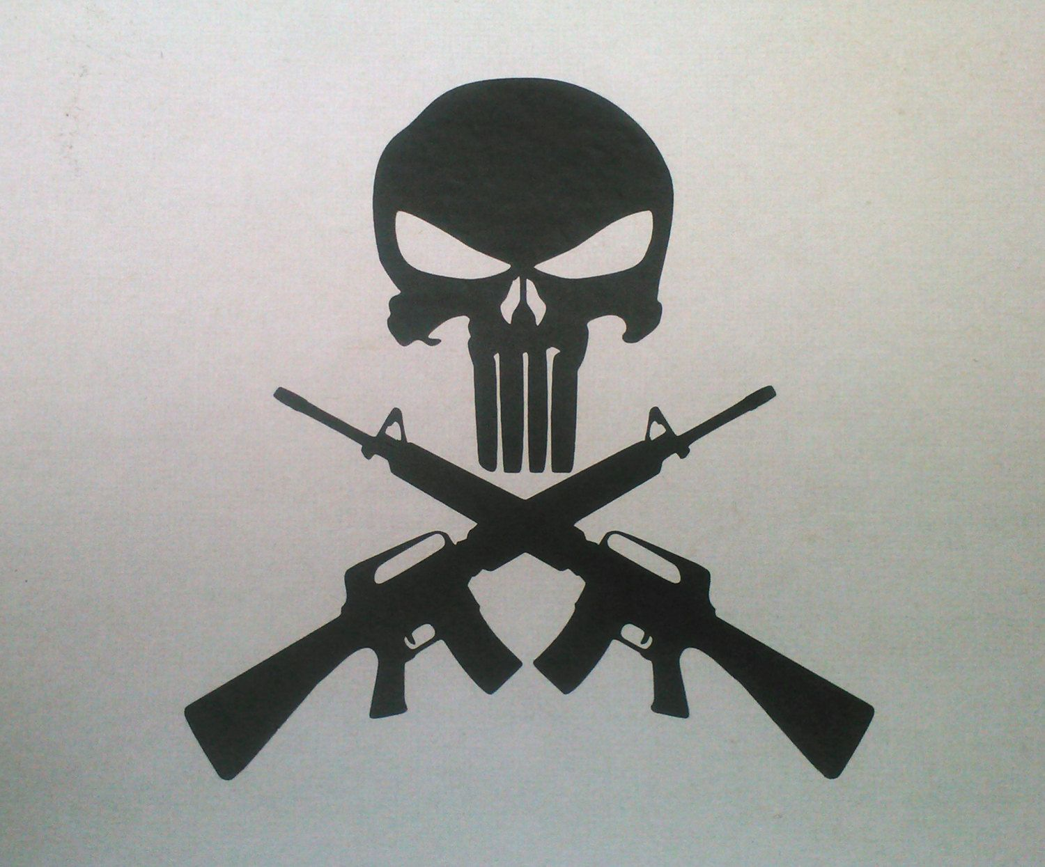 Rifle clipart ar15. Punisher skull and cross