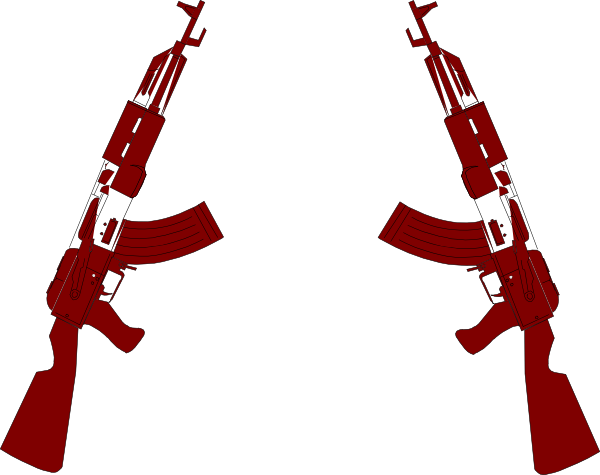 Clarinet vector outline. Guns clip art at