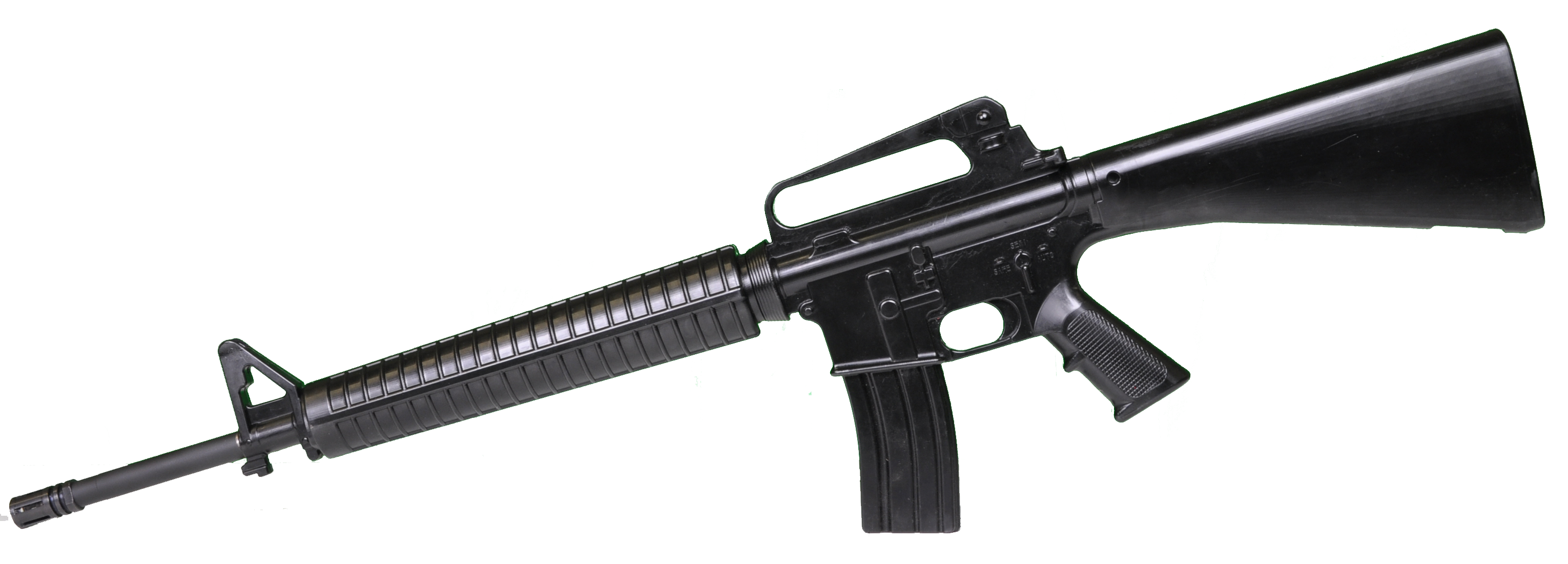 Pubg m16 png. Black assault rifle image