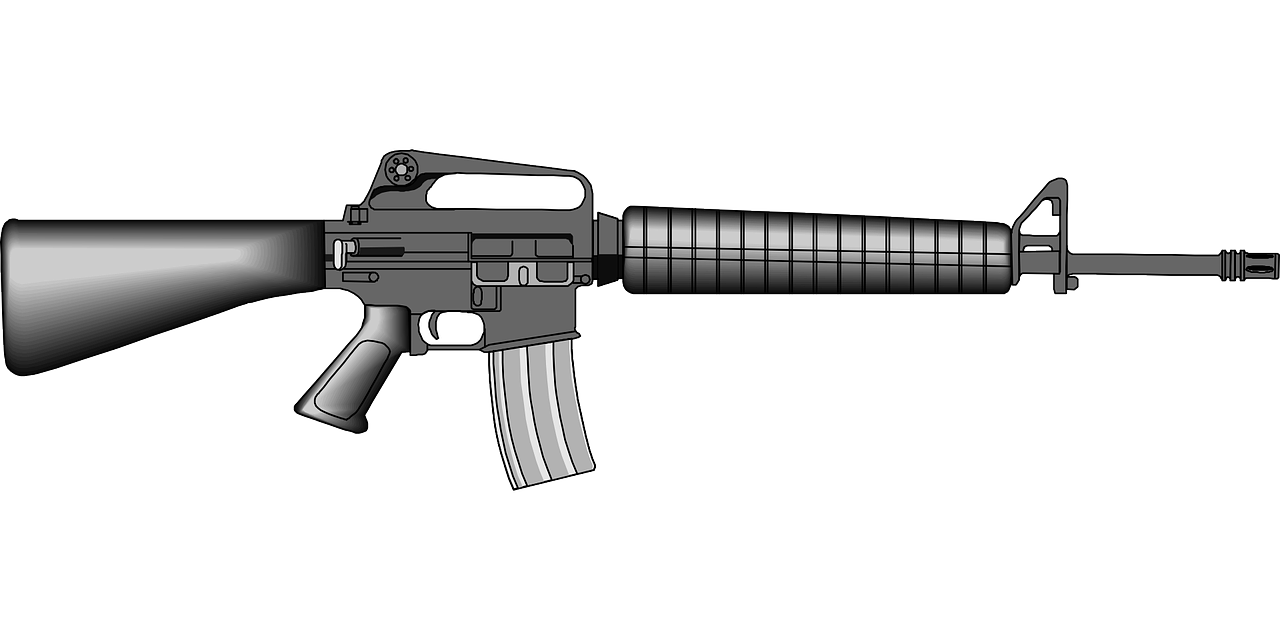 Weapon clip. M rifle art gunshot