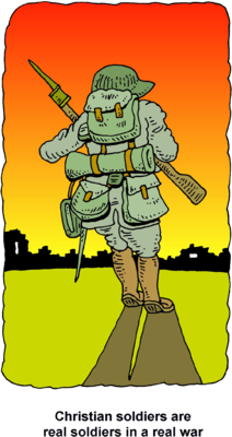 Rifle clipart soldier gun. Image with christian soldiers