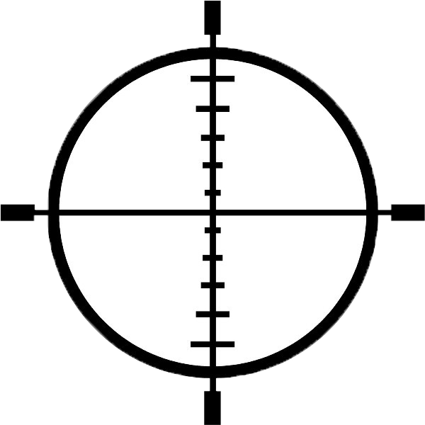 Rifle crosshairs png. Point blank close up