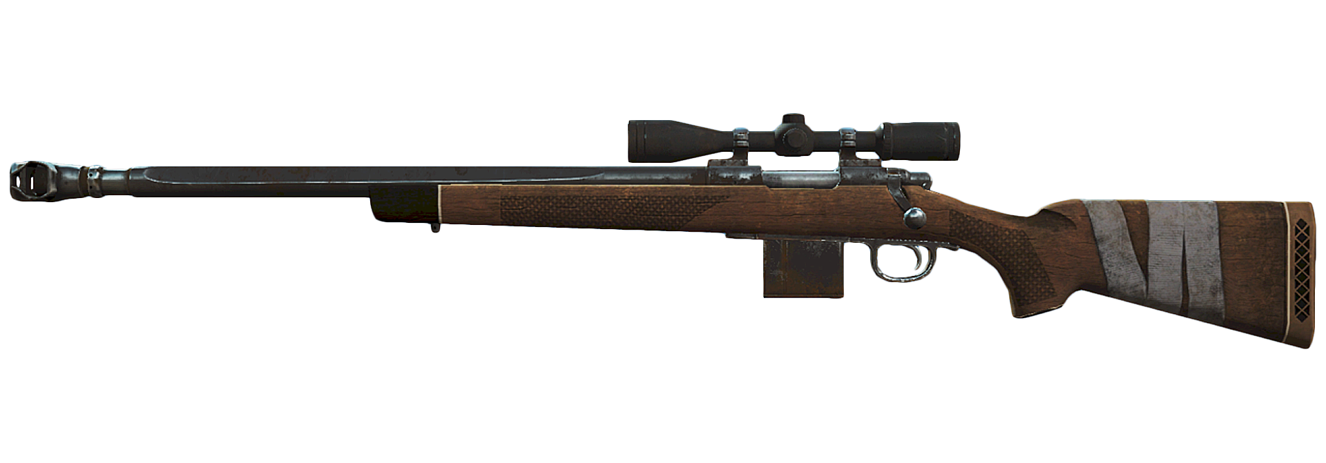 Rifle png. Image fo compensated hunting