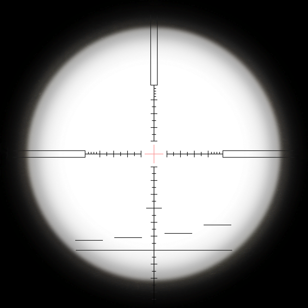 Rifle scope crosshairs png no background.