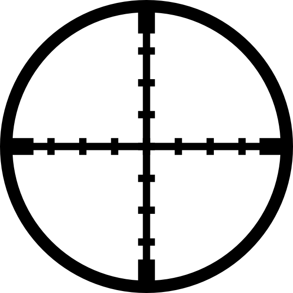 Snipper clip clipart. Crosshairs art at clker