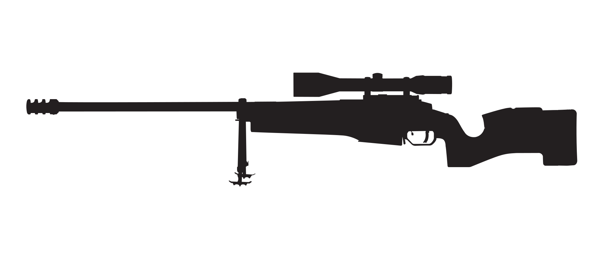 Rifle silhouette png. File sako trg svg