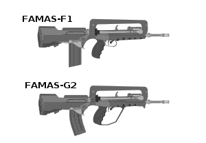 Rifle svg metal gear solid. Famas wikivisually famasf vs
