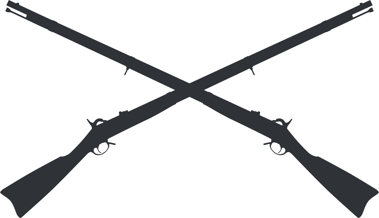 Patriot vector musket. File springfield crossed muskets