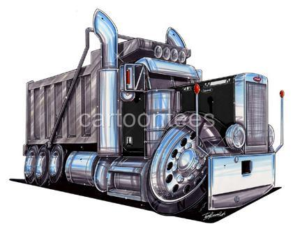 Rig clipart truck dump kenworth. Big drawing at getdrawings