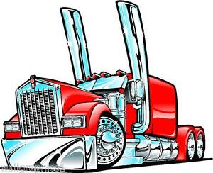 Rig clipart truck dump kenworth. Big semi cartoon sizes