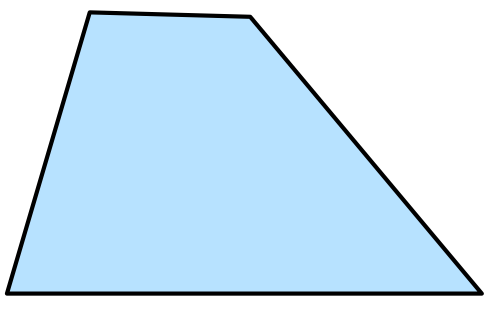 Right angle trapezoid png. Geometry of the plane