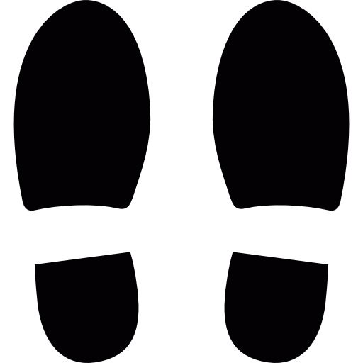Right footprint png. Left and shoe footprints