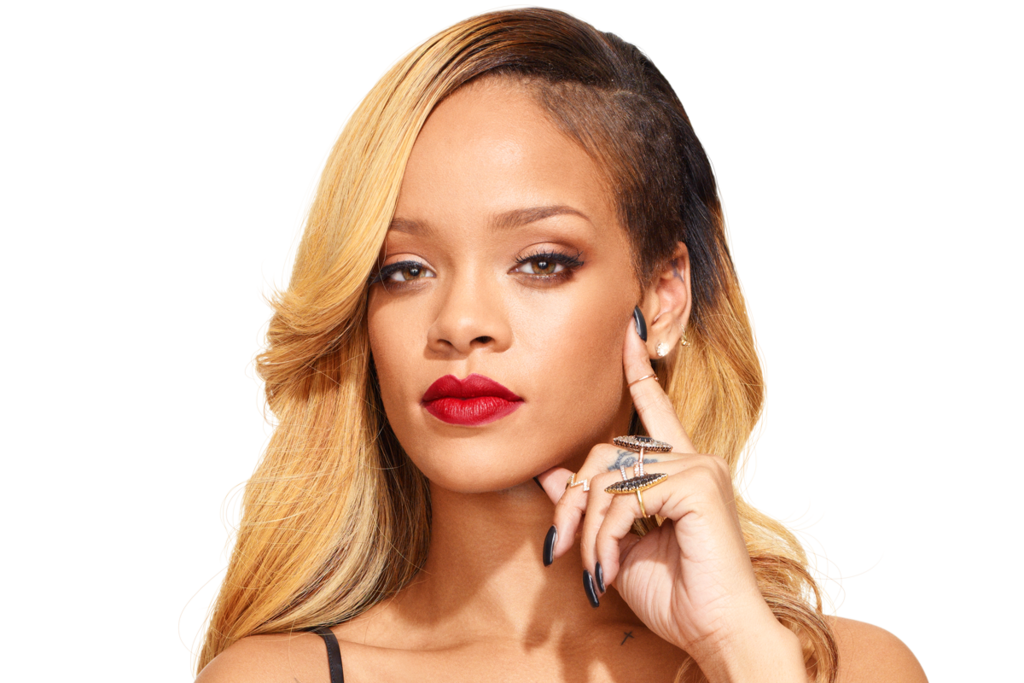 Rihanna face png. Close up by badgurlhere