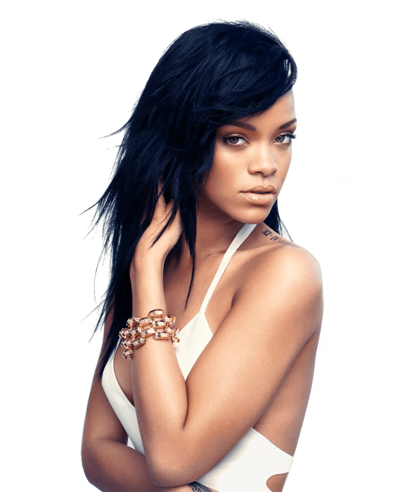 Rihanna face png. Transparent stickpng music stars