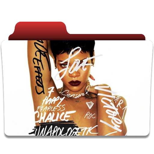 Rihanna unapologetic png. Folder ico and by