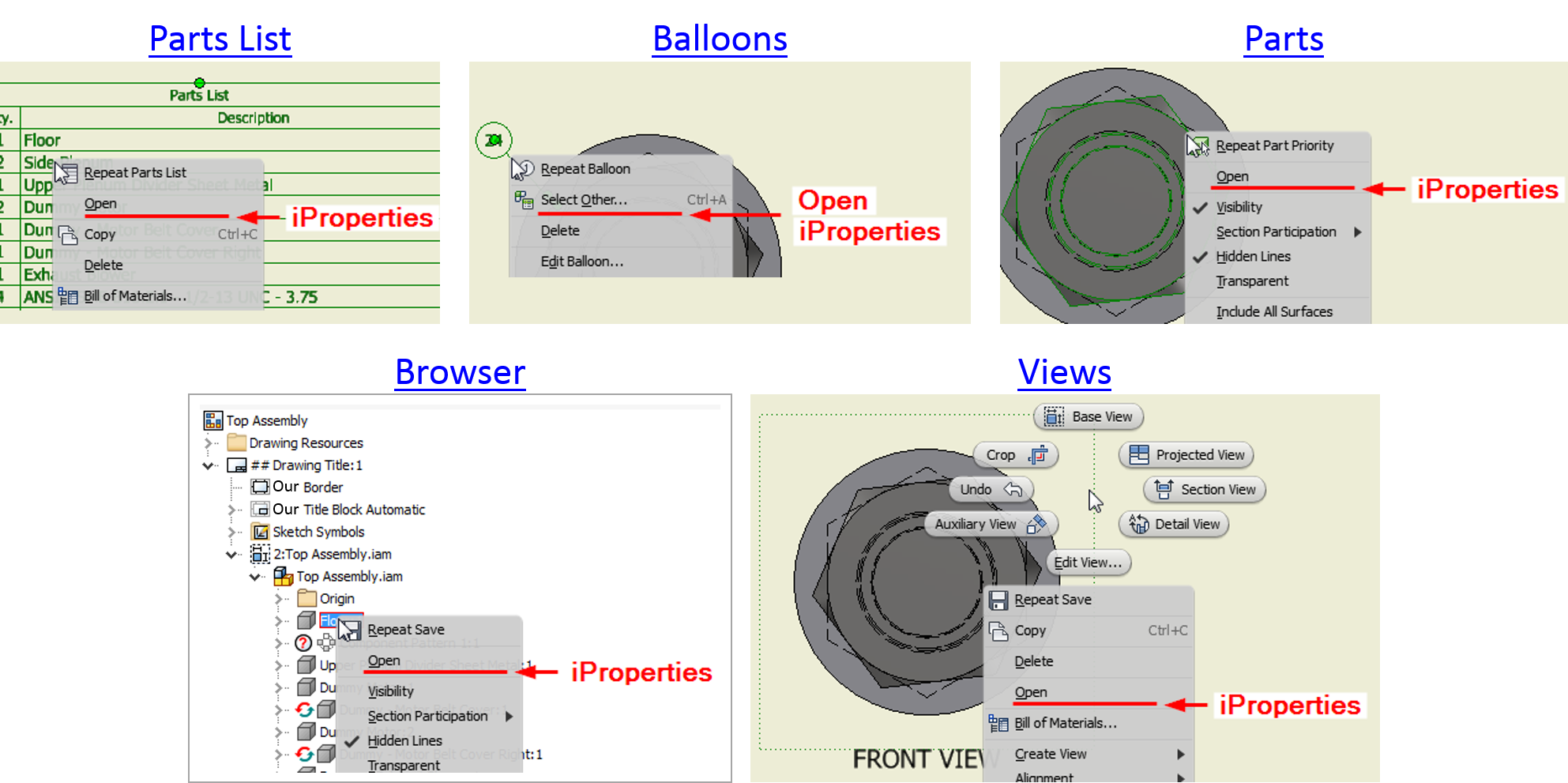 Rim drawing inventor autodesk car. Access iproperties of components
