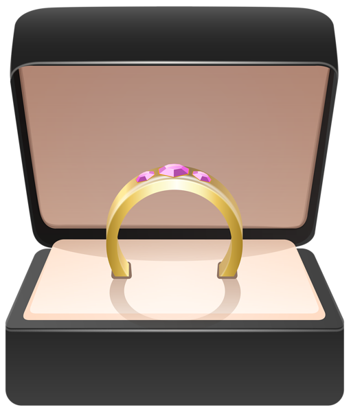 Ring box png. Gold in clip art