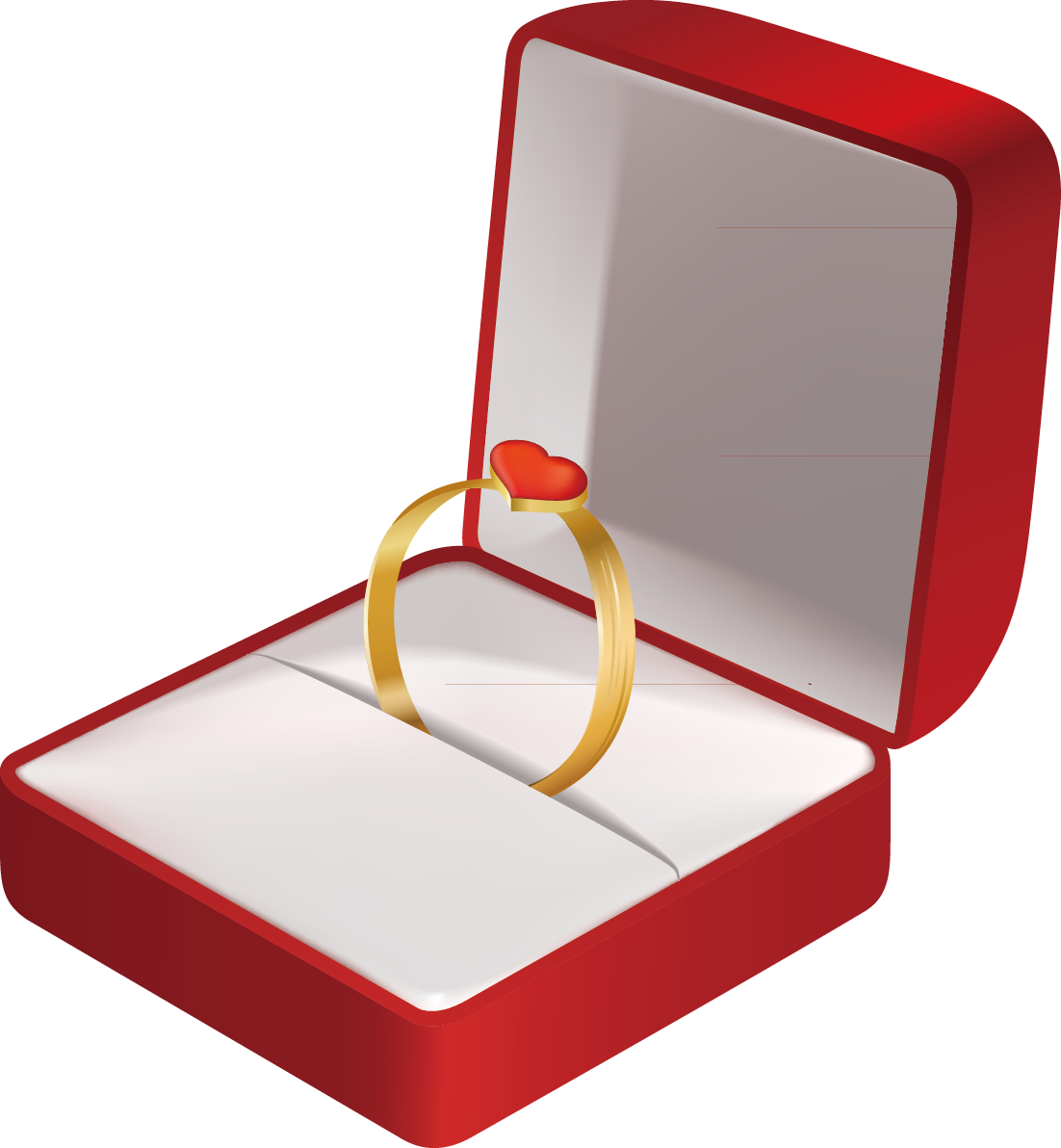 Ring box png. Engagement wedding jewellery clip