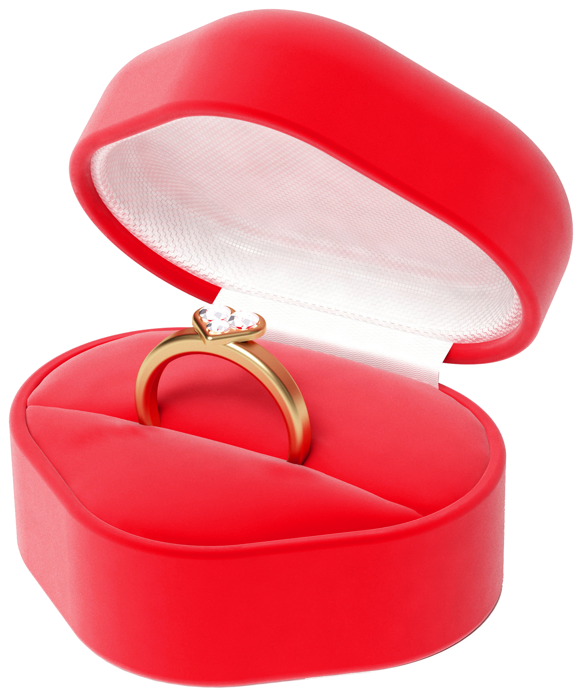 Ring box png. Heart with gallery yopriceville
