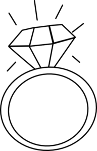Ring clipart dimond ring. Engagement
