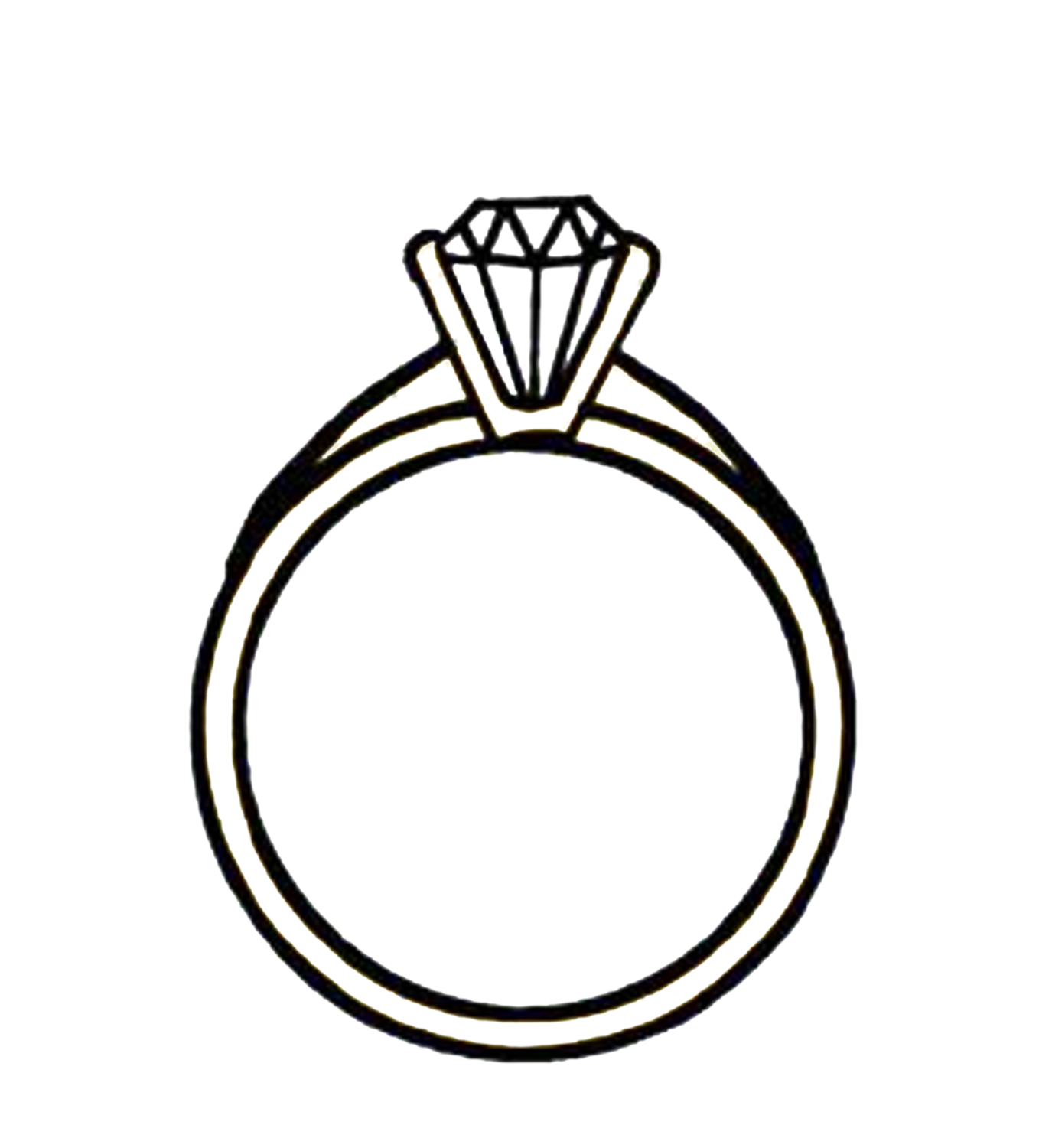 Ring clipart one ring. Clip art silhouette diamond