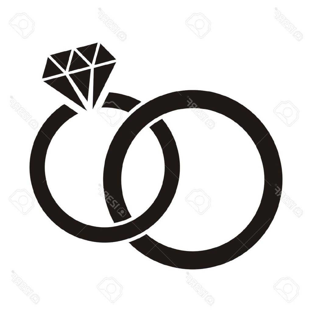 Rings clipart enagement. Diamond ring black and