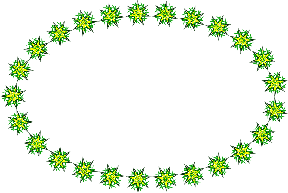 Ring of stars png. Border green free stock