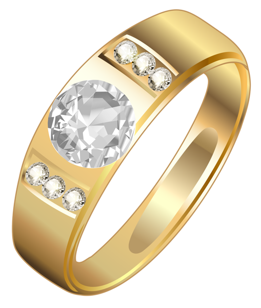 Ring .png. Golden png clipart wedding