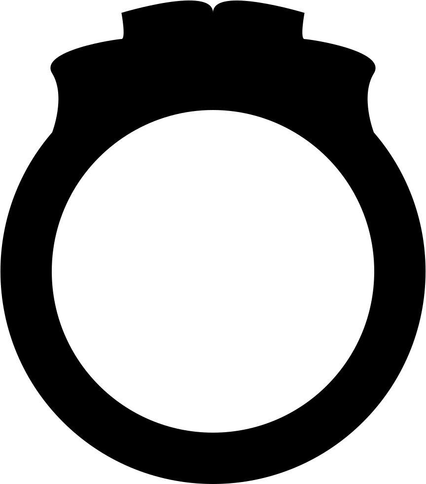 Ring silhouette png. Engagement svg icon free