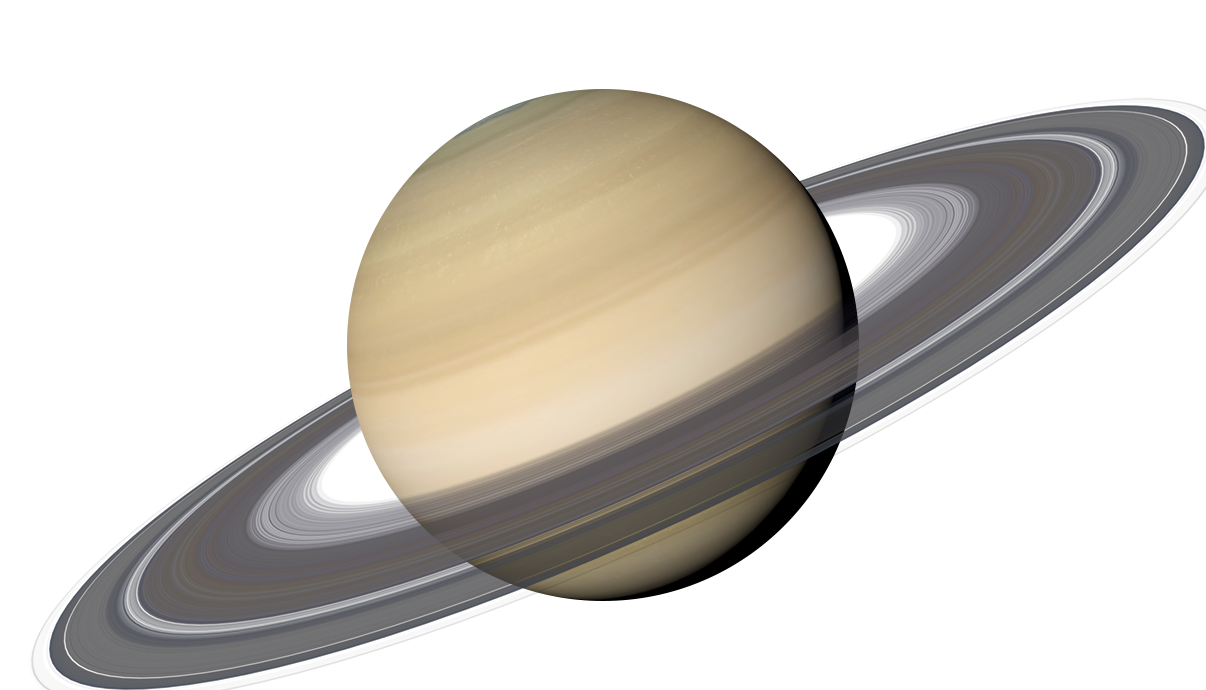 Transparent saturn planet. The solar system wiki