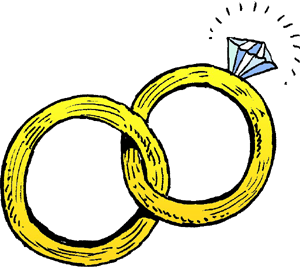 Rings clipart. Marriage