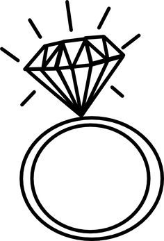 Rings clipart enagement. Engagement ring outline clip