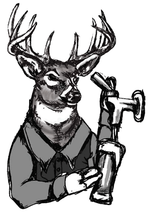 Riot drawing. Oktoberfest with jukebox buck