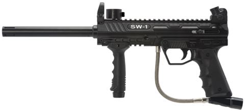 Marker empire bt combat. Rip clip paintball gun graphic royalty free stock