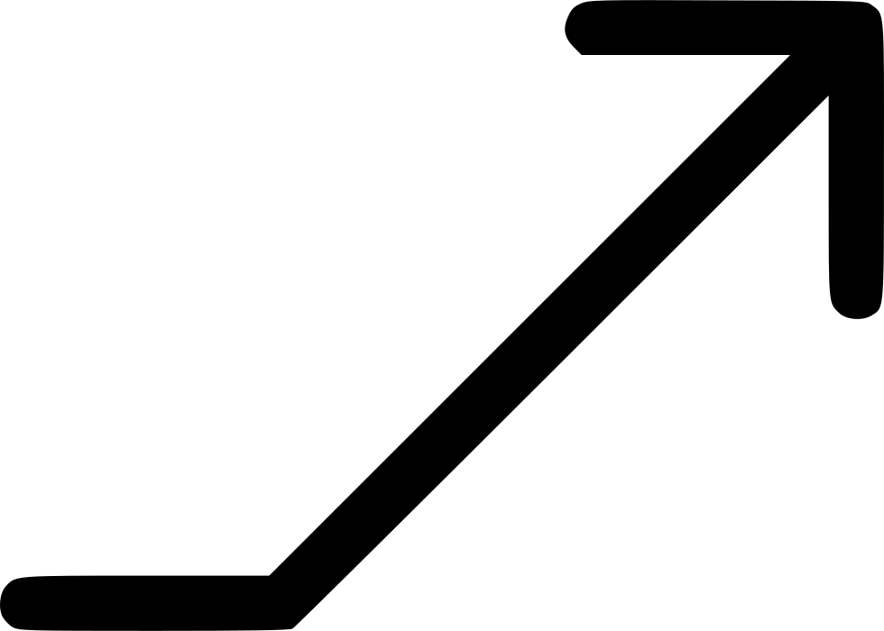 Rising arrow png. Rise svg icon free