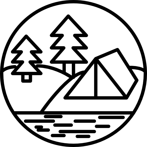 River camping png vector. At the forest near