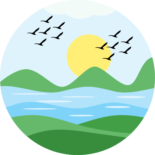 River clipart river village. Free nature icons icon