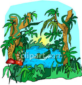 river clipart jungle river