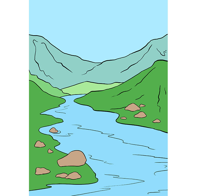 Drawing rivers. How to draw a