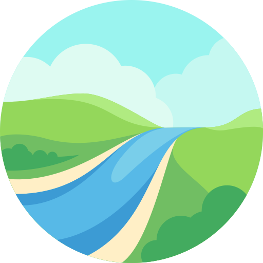 Valley vector river. Icon png and for